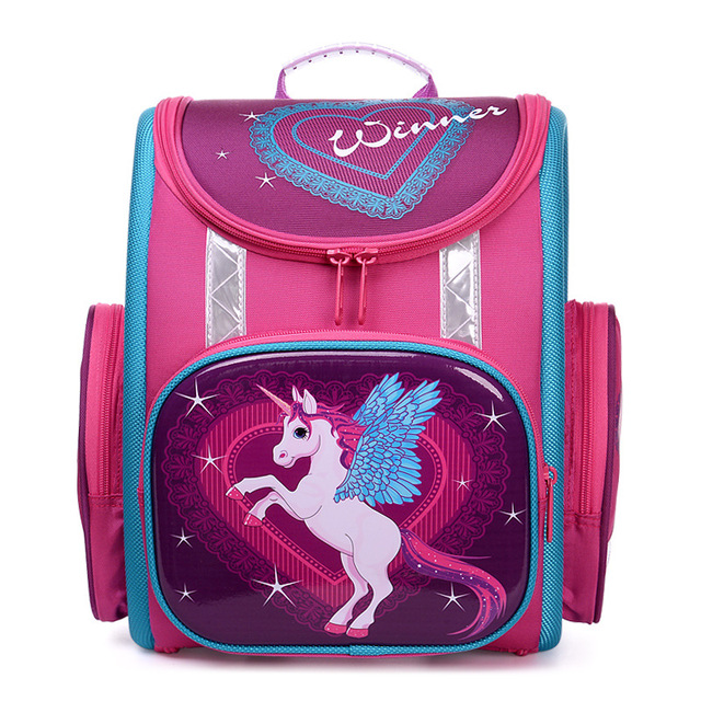 04b50f6c42 Cute Horse Printing School Bags for Girls Orthopedic Backpack Bear  Beautiful Princess Primary School Backpacks Mochila Infantil-in School Bags  from ...
