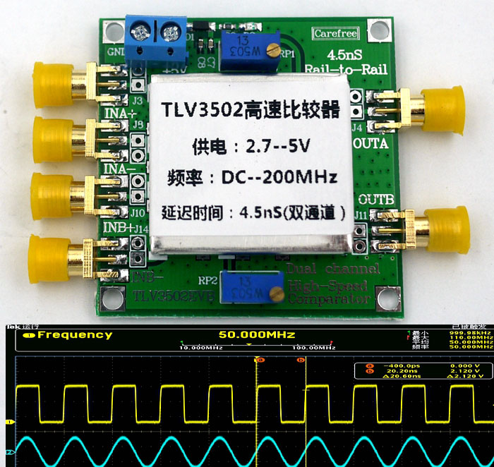 TLV3502 Dual channel High Speed Comparator 4.5-ns Rail-to-Rail Comparator