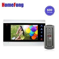Homefong 7 inch video intercom door Phone Doorbell camera system 1 Monitor and 1 doorbell