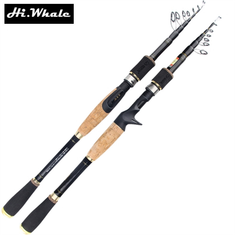 New carbon fishing rod 1.8-2.7 m telescopic casting lure rod and spinning rod optional sea rod fishing tackle