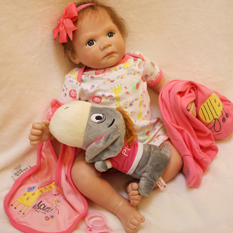Alive Baby Doll Handmade 20 Silicone Reborn Girls Dolls Lifelike Vinyl Newborn Babies Dolls Toys for Kids Best Playmate Gifts 18 inch vinyl reborn doll kids playmate gift for girls 45 cm baby alive soft toys for children lifelike reborn babies dolls