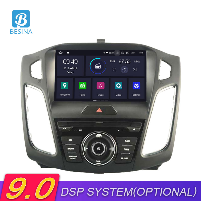 Besina 1 Din Android 9.0 Car DVD Player For <font><b>FORD</b></font> <font><b>FOCUS</b></font> 2012 2013 2014 2015 2016 <font><b>2017</b></font> GPS <font><b>Navigation</b></font> Wifi Multimedia Car Radio image