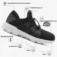 Men's Breathable Steel Toe Cap Safety Shoes Men Outdoor Anti-slip Steel Puncture Proof Construction Boots Work Shoes36-45 men s breathable steel toe cap safety shoes men outdoor anti slip steel puncture proof construction boots work shoes36 45