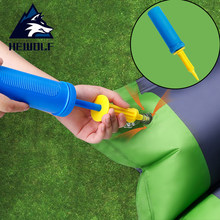 Hewolf mini Portable Outdoor Inflator Hand-held for Air Pillow Mattress Swimming ring Party balloon Fast Pump Camping Equipment(China)
