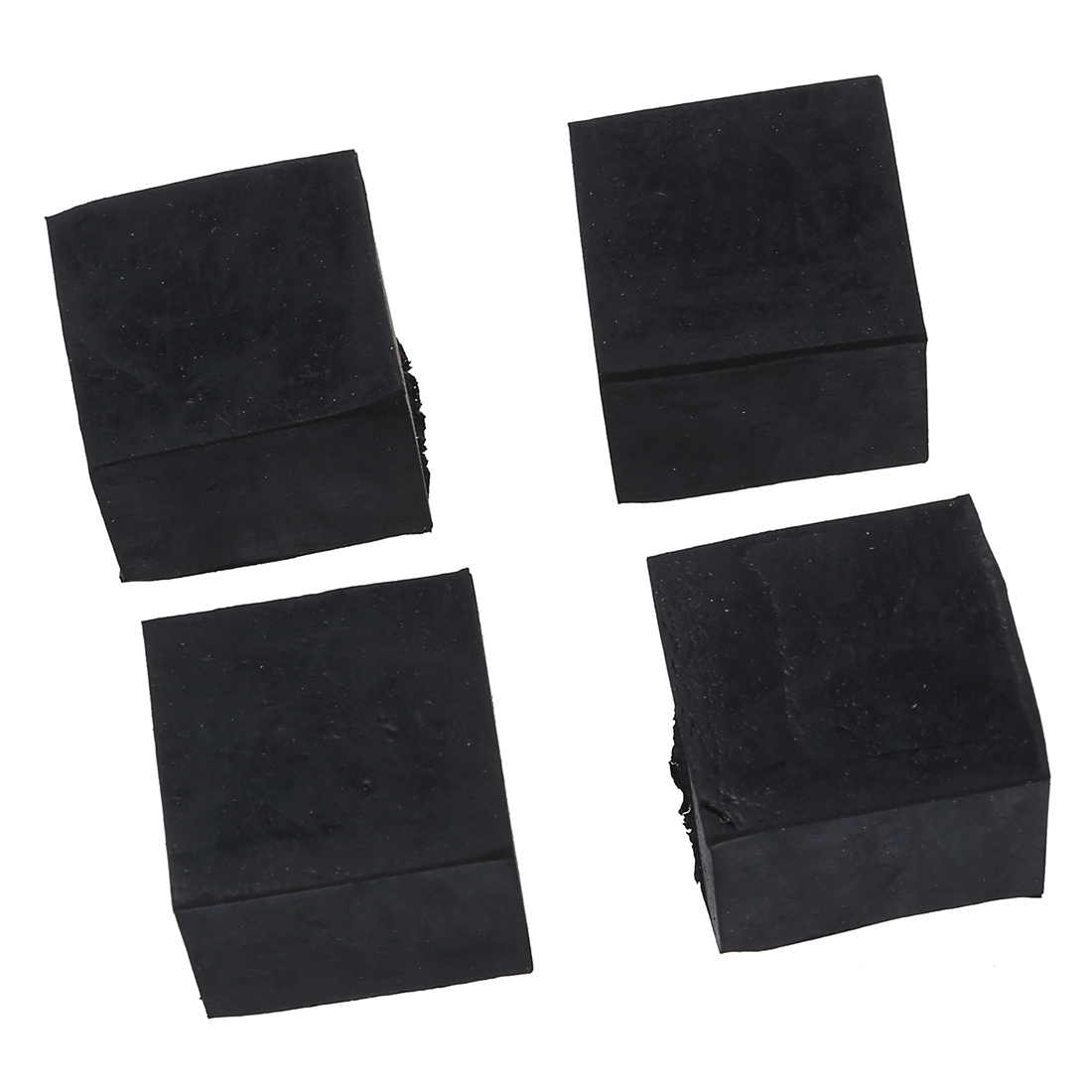 4 Pcs Black Chair Table Leg Rubber Foot Covers Protectors 28mm x 28mm
