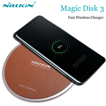 Nillkin cargador inalámbrico para Samsung Galaxy S9, S8, S7 Plus, Note 9, 8, Nilkin, Qi, dispositivo de carga para iPhone XS, MAX, XR, X, 8, 7 Plus
