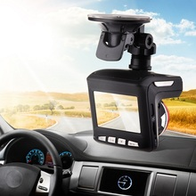 Car DVR Full HD Dashcam Built-in GPS Antenna Driving Recorder Radar Detector With Bracket 140 Degrees Auto