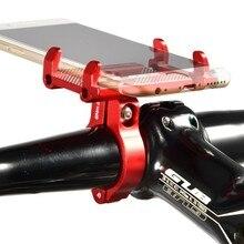 GUB G81 G-81 de aluminio bicicleta soporte para teléfono para 3,5-6,2 pulgadas Smartphone Soporte ajustable bicicleta GPS, GPS soporte de montaje para teléfono móvil soporte