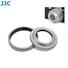 JJC caméra capuchon dobjectif en métal et adaptateur dobjectif pour Fujifilm Finepix X100T X100S X100 appareil photo numérique 30.5mm diamètre du filtre de capot dobjectif