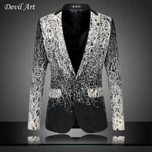 Men's Dress Blazer Fashion Business Suit Jackets Ribbon Blazer Slim Veste Homme Mariage Free Shipping Plus Size:5XL 6XL 9882