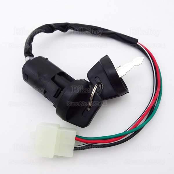 4 Wires Pins Ignition Key Switch For 50cc 70cc 90cc 110cc 125cc ATV on 4 position ignition switch diagram, vw dune buggy ignition wiring diagram, ford f-250 ignition wiring diagram, dodge ram ignition diagram, 4 wire sensor diagram, turn signal switch wiring diagram, 4 post ignition switch wiring diagram, starter solenoid relay diagram, ignition system wiring diagram, 4 wire relay diagram, sunl 110 atv wiring diagram, 1988 ford ranger wiring diagram, 4 wire switch schematic, bmw wiring harness diagram, chrysler ignition wiring diagram, 4 pin ignition switch wiring diagram, 4 wire wiring light switch, 1998 chevy cavalier ignition wiring diagram, distributor wiring diagram, 4 wire fan switch diagram,