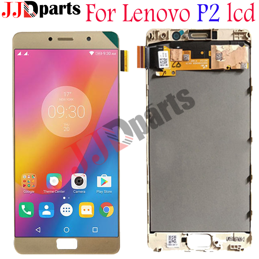 Lenovo P2 LCD Display Touch Screen Digitizer Assembly Lenovo P2 Display With Frame 5 5 For