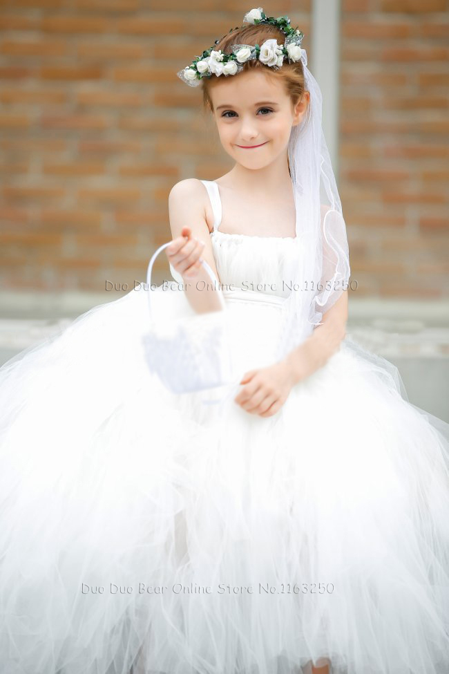High Quality Baby Girl Formal Dress White Infant Ball Gown Flower Dresses For Weddings Party 1 Year 1st Birthday Tutu In From Mother