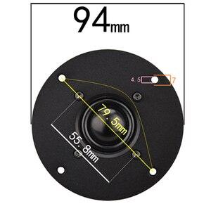 Image 4 - HIFIDIY LIVE Q1S 4.5 inch 4.7 Tweeter Speaker Unit aluminum panel Black Silk membrane 6 OHM30W Treble Loudspeaker 110/116/120mm