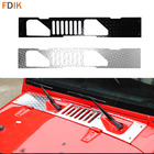 Aluminium Engine Hood Vent Outlet Armor Cover Molding Trim Protector Guards for Jeep Wrangler 2011-2017