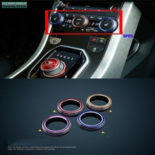 for Land Rover Discovery Sport Discovery 4 LR4 Range Rover Evoque car-styling Air conditioning knob decorative cover trim 3PCS 3pcs rear air condition knob trim for range rover sport for range rover vogue 2014 2017 accessories car styling