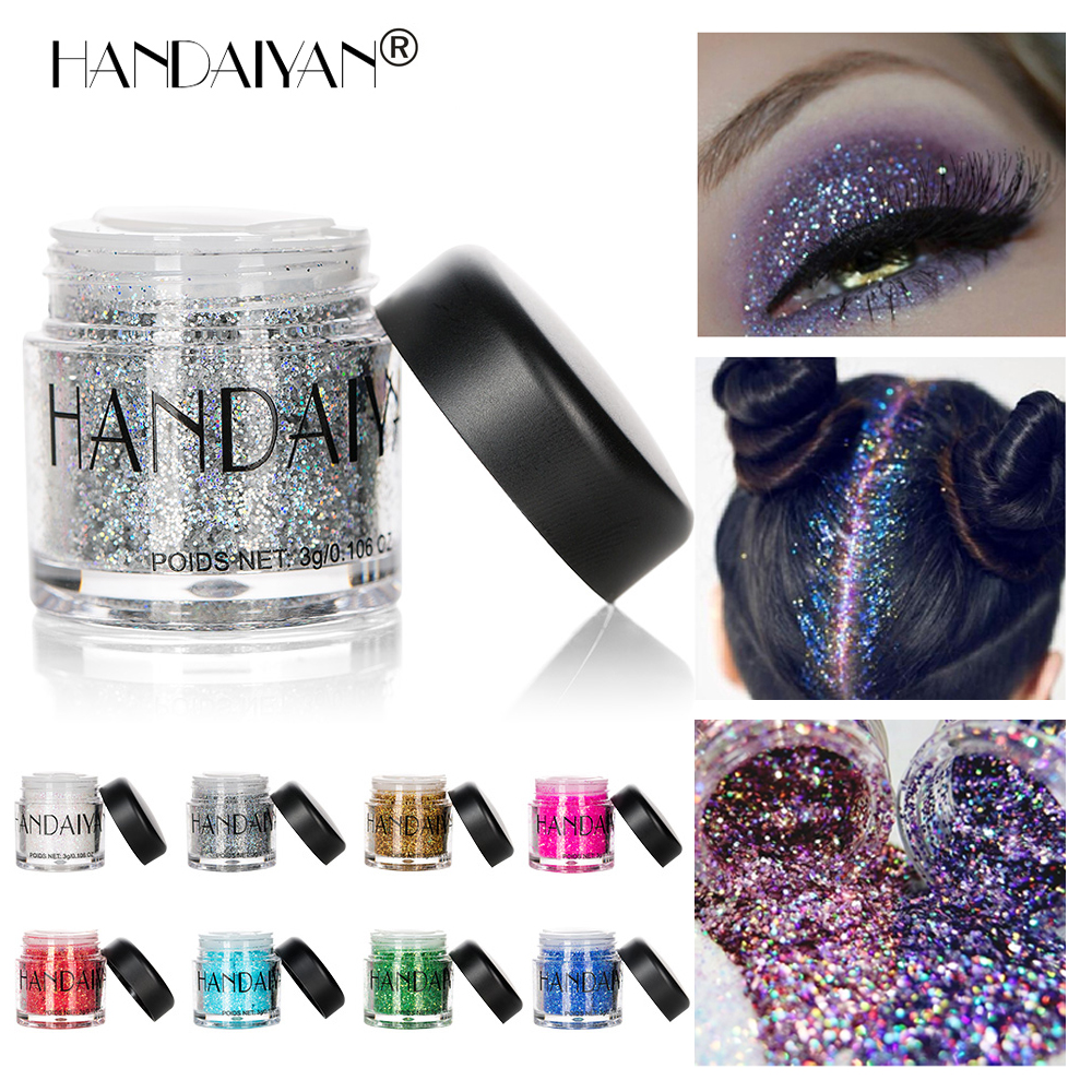 Festival Body Glitter Tattoo Holographic Face Hair Sequins Mermaid Makeup Loose Pigment Powder Eyeshadow Chunky Glitter For Art