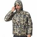 Мужчины С Капюшоном Камуфляж Зимние Пуховики 2016 Новый Прибытие Сверхлегкий 90% Утка Снег Мода Парки Теплые Куртки F1532-EU