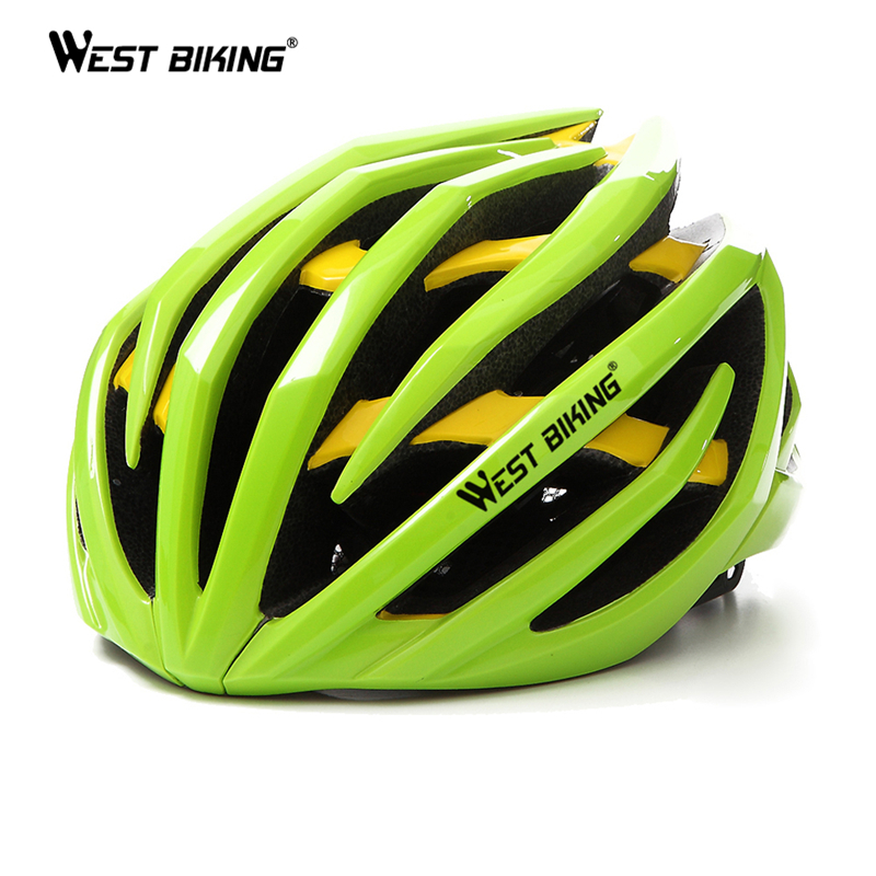 WEST BIKING Bicycle Helmet EPS Two Layers Ultralight MTB Mountain Absorb Sweat Insect Nets Comfort Safety Cycle Bicycle Helmet