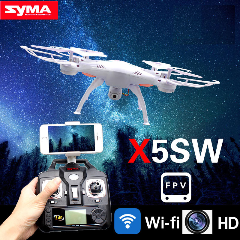 SYMA X5SW 2.4G 6-Axis WIFI RC Helicopter Drone FPV Real Time Quadcopter with Camera Headless Mode UFO Remote Control Toys syma x5sw wifi rc drone fpv quadcopter with camera headless 2 4g 6 axis real time remote control helicopter quadcopter toy