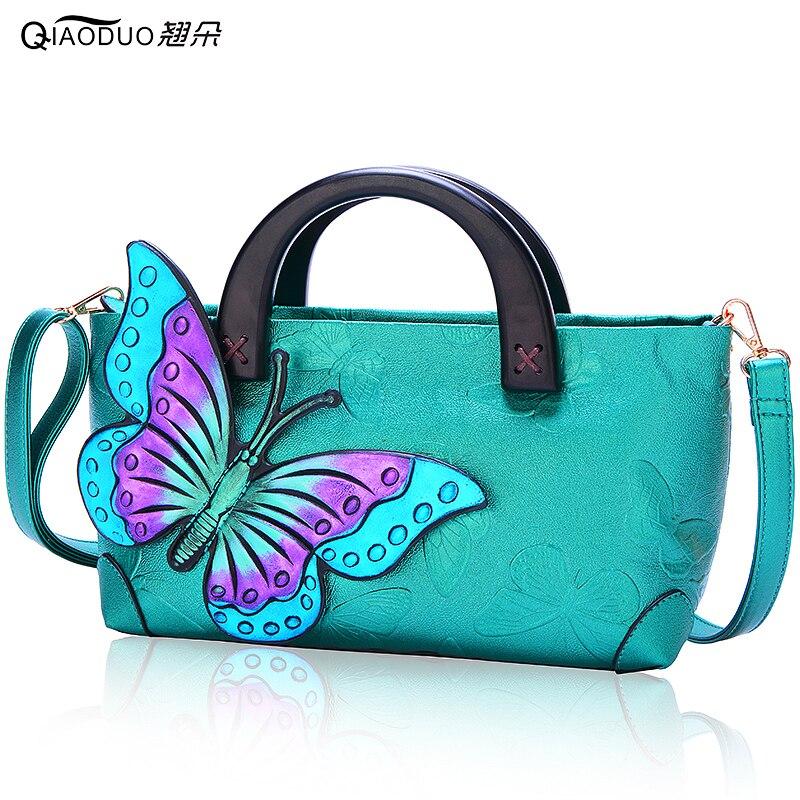 Nouveau 2018 papillons Style chinois femmes sac décontracté fourre-tout mode Bolsa Feminina sac à main épaule femmes Messenger sacs