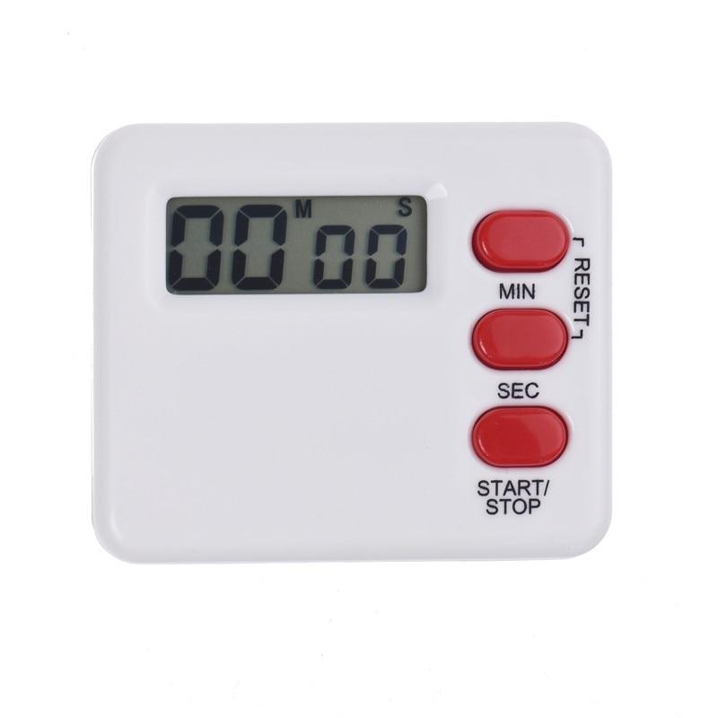 Часы Кухня Пособия по кулинарии таймер минуту Цифровой ЖК-дисплей электронный таймер обратного калькулятор белый
