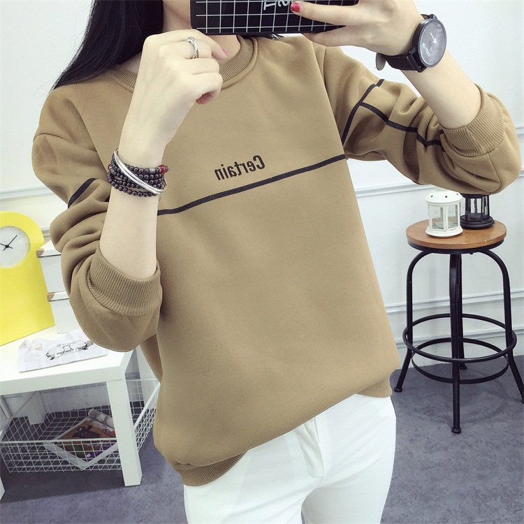 kpop BTS autumn winter Plus velvet women sweatshirts korean loose casual Round neck pullovers fashion Harajuku women hoodies