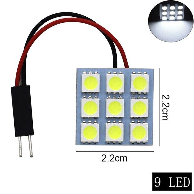 1 ensemble voiture panneau lecture carte lampe 5050 6 9 12 15 24 36 48 LED SMD dôme intérieur ampoule toit lumières BA9S T10 C5W adaptateur Festoon Base 2