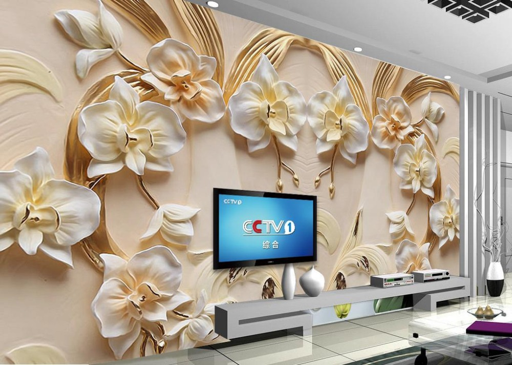 3D Sandstone Relief 3d Wallpapers Phalaenopsis Wall Murals Background Living Room 3d Mural Wallpaper mural children room large murals kindergarten background wall 3d wallpaper murals seamless 3d 3d wallpaper space exploration