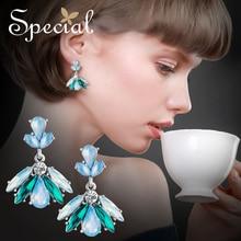 Special Brand Fashion Enamel Earrings Big Drop Long Vintage Gold Jewelry Gifts for Women S2775E