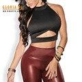 Escavar Estilo Amarrado Para Trás Mulheres Sexy Encabeça 2016 Verão Sem Mangas ocasional vestido de Noite Desgaste Do Clube Das Mulheres Sexy Tops de Culturas Negras colete