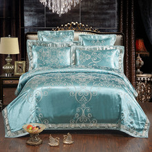 2017 Autumn home bedding set Jacquard duvet cover set 4/6pcs bed linens luxurious bedclothes queen king size adult bed sets