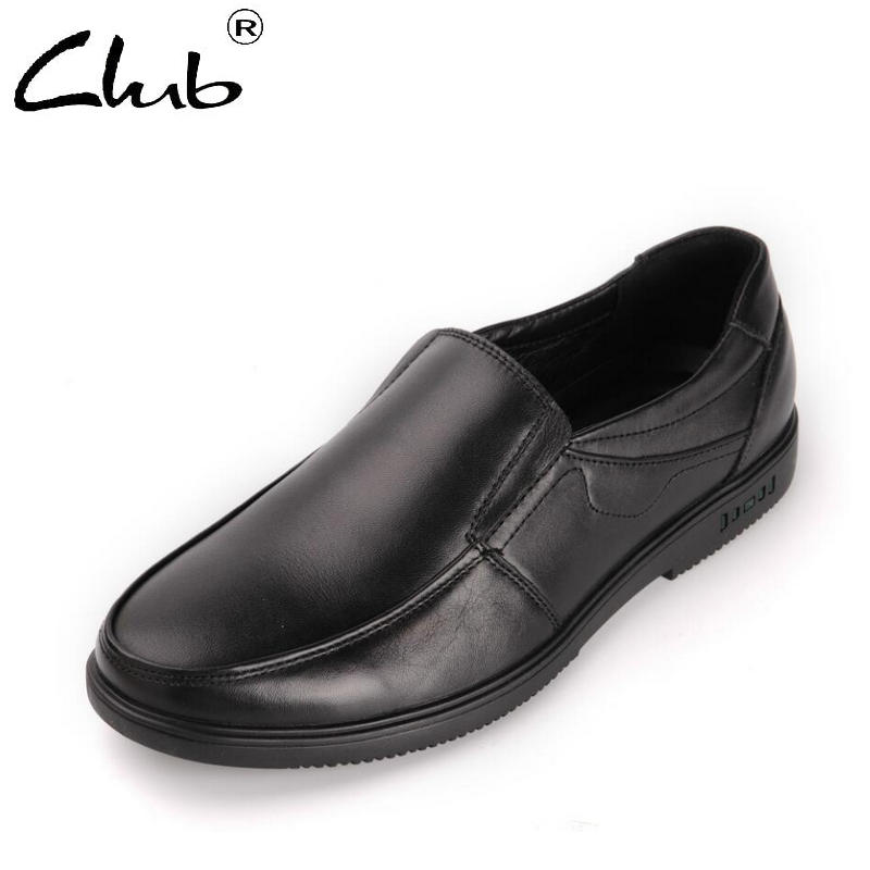 Club Genuine Leather Casual Shoes Mens Black Shoes 2018 Spring Slip-on Leather Loafers Men Flat Shoes Mocasines Hombre new black embroidery loafers men luxury velvet smoking slippers british mens casual boat shoes slip on flat shoes espadrilles