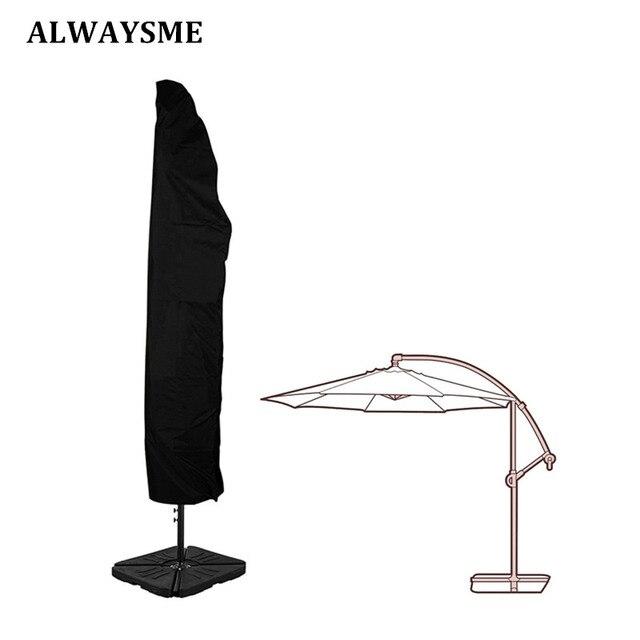Alwaysme Outdoor Patio 7 13 Offset Umbrella Cover Waterproof For Garden Banana Cantilever Parasol Umbrellas With Zipper