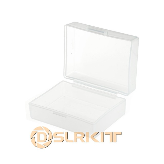 5pcs/Lot White Hard Plastic Case Holder Storage Box For Battery NP FW50 NP