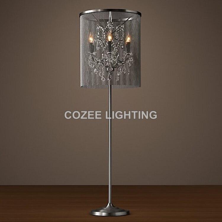 chandelier floor lamp home lighting. vintage crystal floor lamp standing lighting aluminum chain light indoor home restaurant living and chandelier