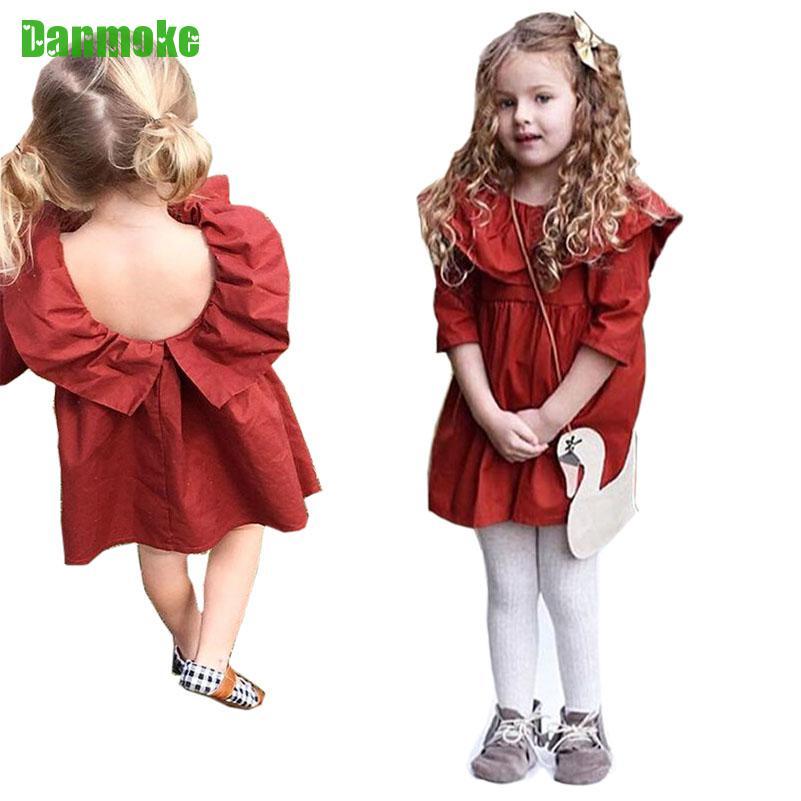 Danmoke Ins Bahar Yay Uşaq Geyimləri Moda Qız Vestido Təsadüfi - Uşaq geyimləri - Fotoqrafiya 1