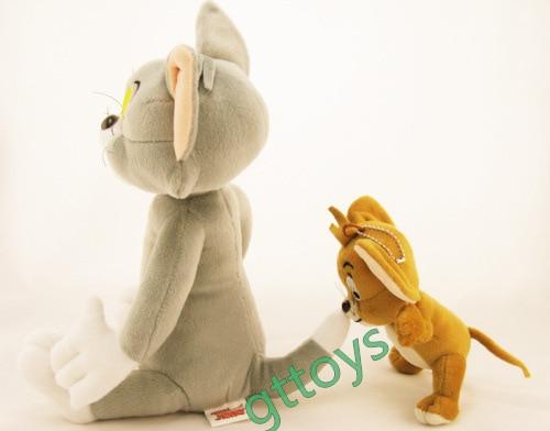 2pcs/set Cat Tom And Jerry Mouse Plush Stuffed Toys For Kids,