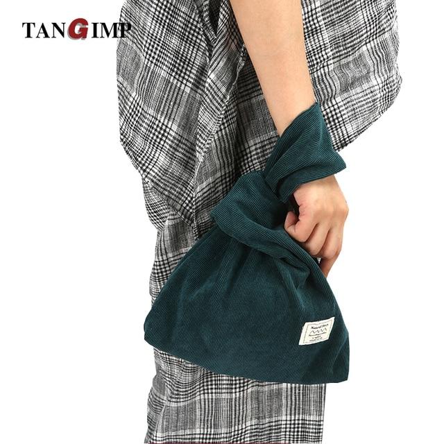 3c9002f74502 TANGIMP Corduroy Wrist Bag Bartack Handbag Simple Carry Bags Wristlet Wrist  Pack Tote Coin Purse Phone