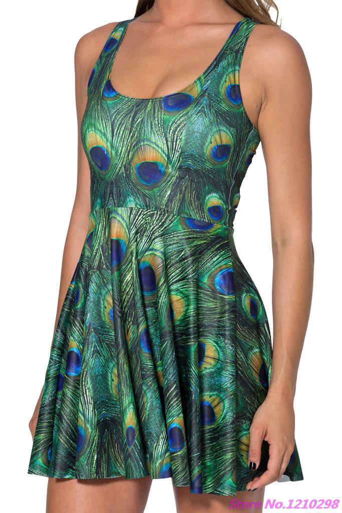 3da978cf0d0a1 US $11.05 22% OFF|Black Swords Printed Dress Women Cool Summer 3D Hell Fire  Sleeveless Pleated Dresses Sports A line dress Beach Wearing-in Tennis ...