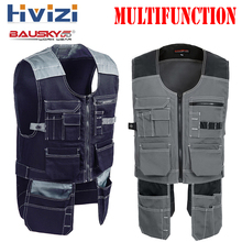 Brand Tool Multi Pockets T/C Twill Multifunction Gear Mens Outdoor Workwear Work Vests Multi-functional B208