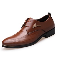 Big Size 38 46 Fashion Men Dress Shoes Pointed Toe Lace Up Men S Business Casual