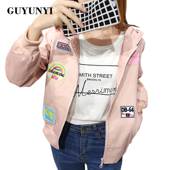 GUYUNYI Jackets Women 2017 Basic Jacket Women's Hooded Jacket Fashion Thin Fashion Windbreaker Female Outwear Coat WT065