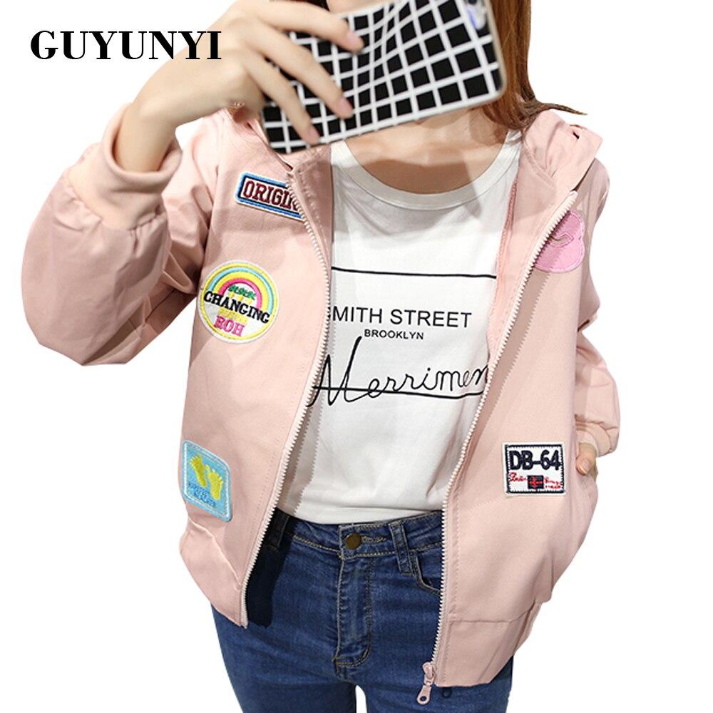 GUYUNYI   Jackets   Women 2017   Basic     Jacket   Women's Hooded   Jacket   Fashion Thin Fashion Windbreaker Female Outwear Coat WT065