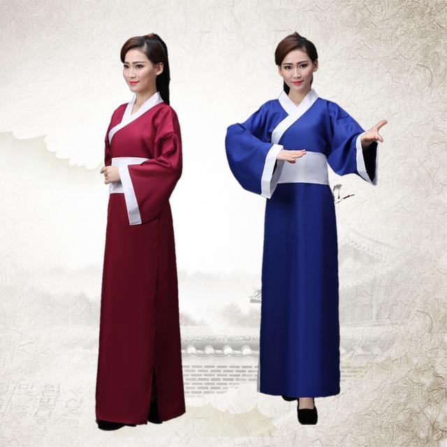 c14318d9a2 Chinese Traditional Women Hanfu Dress Men National Hanfu Clothing Tang  Dynasty Chinese Ancient Costume Folk Dance