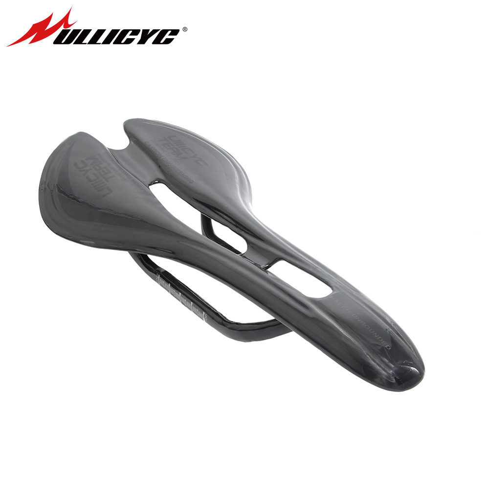New style carbon saddle UD glossy full Carbon Fiber Bicycle Saddle Bike Seat super light cycling bike parts with box ZD277 new hot full carbon fiber mountain bike fork 27 5er plus super light ud weave glossy matte alxe 15 110mm bicycles 2017