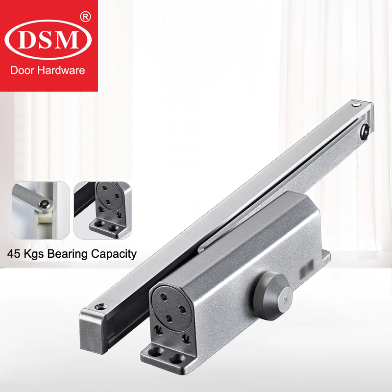 45Kgs Bearing Capacity Hydraulic Buffered Door Closer Available For Wooden/Metal Doors Silver Color WM0280245Kgs Bearing Capacity Hydraulic Buffered Door Closer Available For Wooden/Metal Doors Silver Color WM02802