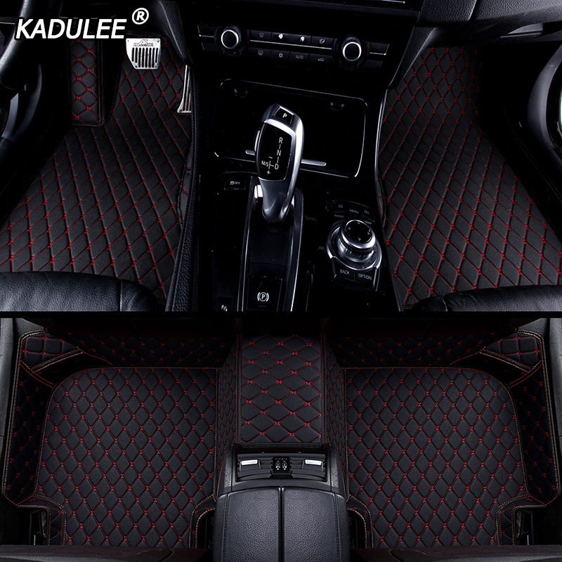 KADULEE Custom Car Floor Mat For Toyota Land Cruiser Prado Toyota Camry Corolla Prius CH-R Sienna RAV4 CROWN Auto Accessories