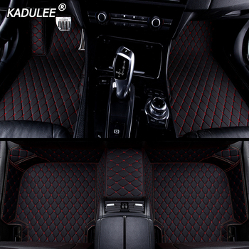 KADULEE Custom car floor mat For toyota land cruiser prado toyota camry corolla prius CH-R Sienna RAV4 CROWN auto accessories image