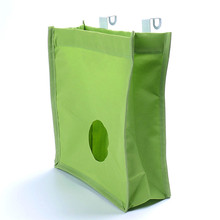 Practical Canvas Tissue Cupboard Kitchen Garbage Bag With Rack Hanging Trash Storage Bag Sundries Organizer